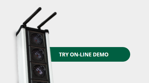 Online demo access on NETIO device web