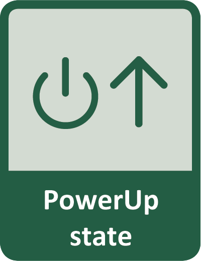 User can define output state after power restoring - PowerUp state
