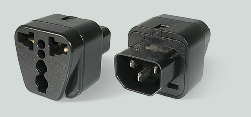 Adapter connecting many types of plugs to NETIO 4C (IEC320 plug)