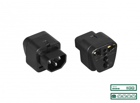 NETIO power adapter UNI to IEC320