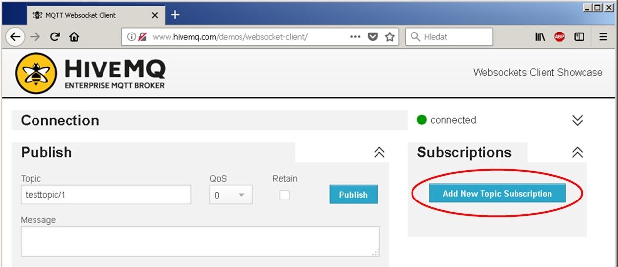 Adding new topic subscription to HiveMQ