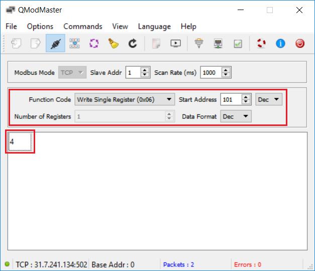 Register and toggle output via Modbus protocol of NETIO power sockets