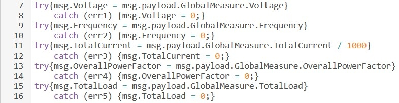 Error handling when global values measurement not supported