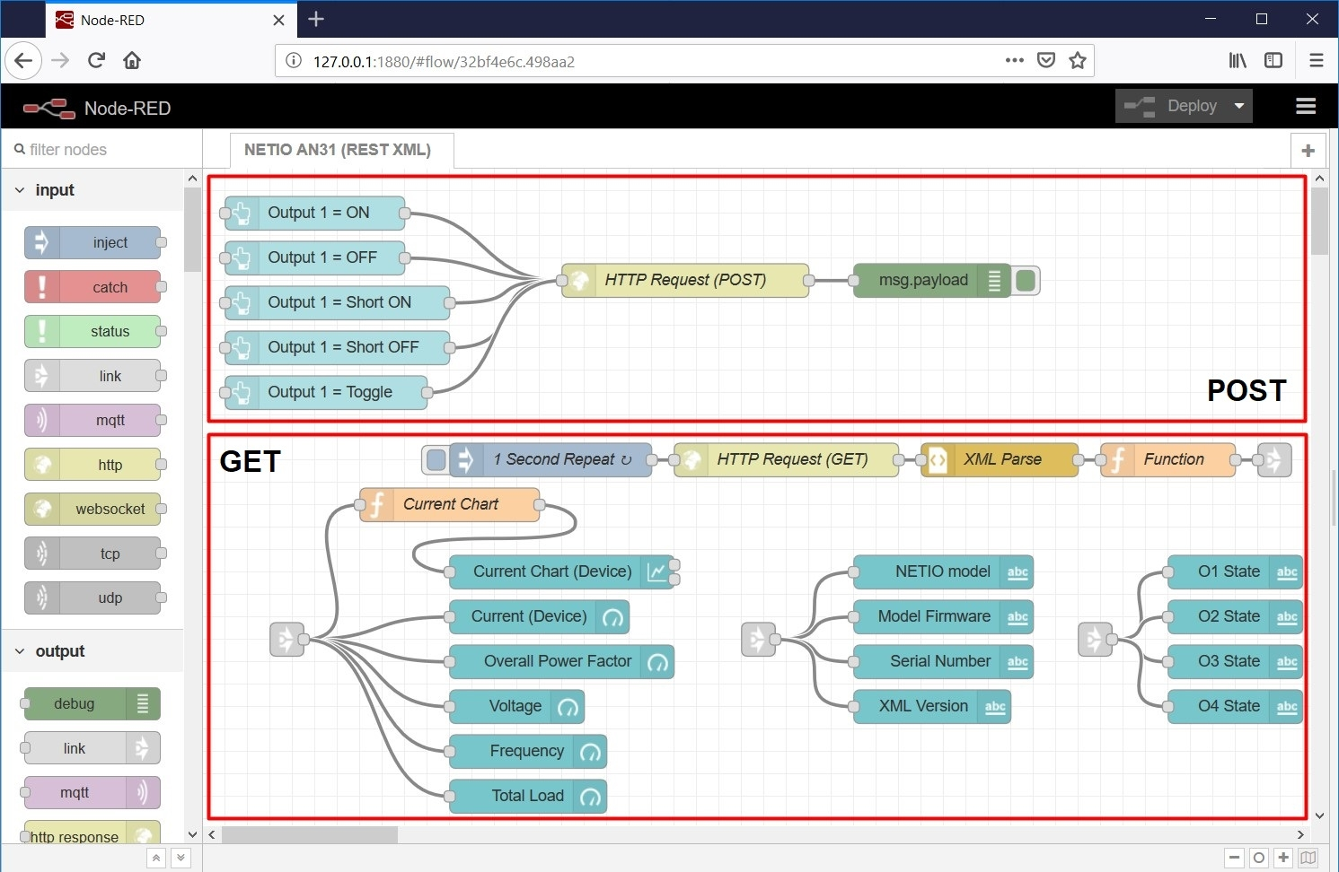GET and POST parts of AN31 (XML REST API) flow