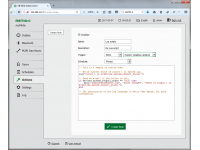 Write your own script through web interface to control power sockets NETIO