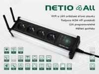 NETIO All: Modul chytrých elektrických zásuvek (PDU) ovládané po síti pomocí LAN/WiFi