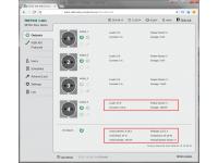 Na webu nastavení zařízení NETIO 4ALL můžete zobrazit údaje o měření energie. Na každé napájecí zásuvce (proud [A], skutečný výkonový faktor TPF [-], výkon [W], energie [Wh]) a dvě společné hodnoty pro celé zařízení (napětí [V] a Power)