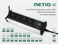 умный удлиннитель на четыре розетки 230V/8A с подключением к LAN и WiFi