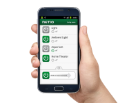 Each output of NETIO power outlet is controlled via Mobile application
