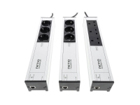 Various plug variants of NETIO PowerBOX 3Px remote controlled power strip