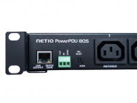 NETIO PowerPDU 8QS with RJ45 Ethernet LAN connection for remote restarting and monitoring electrical equipment
