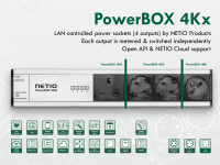 LAN IP smart power strip with API and power consumption metering