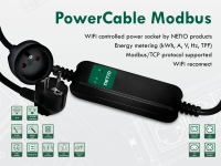 WiFi controlled power socket PowerCable Modbus 101x