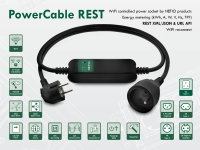 PowerCable is an industrial smart power extension cable with a WiFi connection to a LAN