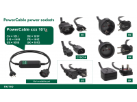 PowerCable socket variants