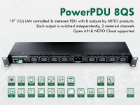 NETIO PowerPDU 8QS metered and switched PDU with 8x IEC-320 C13 outputs and C20 input