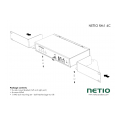 NETIO 4C can be installed with the 110/230V supply connectors at the front or at the back