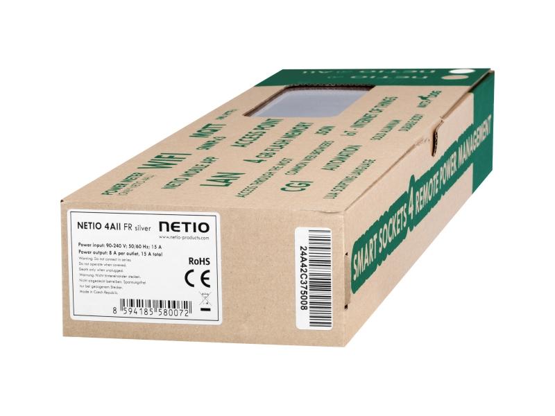 NETIO 4All: Měření proudu a napětí v elektrických zásuvkách, programovatelné, emailové varování