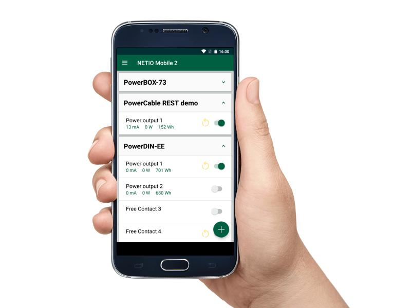 NETIO PowerBOX 4Kx is controlled remotely via mobile app - NETIO Mobile 2