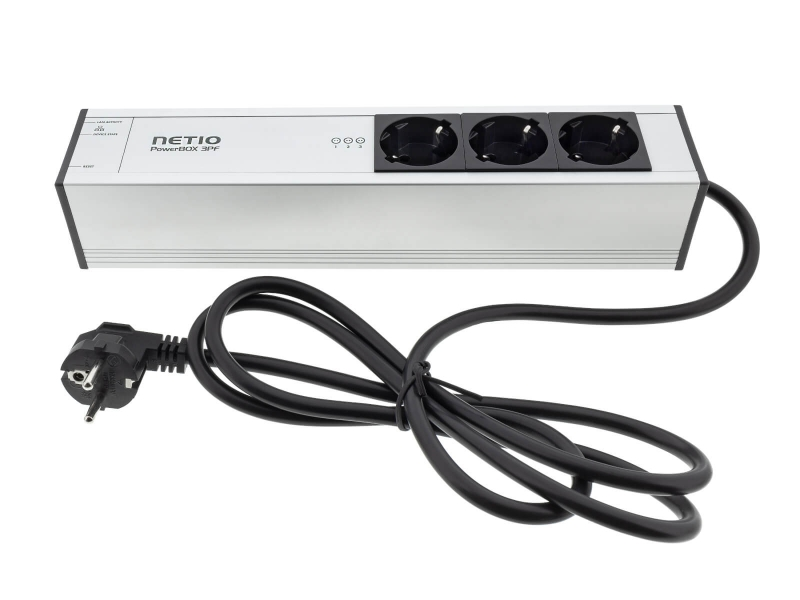 NETIO PowerBOX 3PF schuko plug type smart power strip 230V LAN and Open API