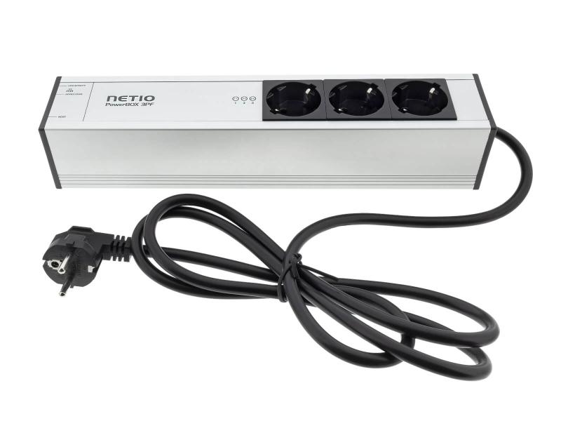 NETIO PowerBOX 3PF schuko plug type smart power strip 230V LAN and Open API