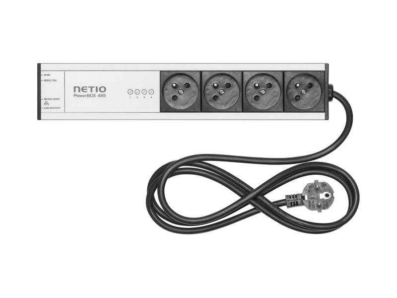 NETIO PowerBOX 4KE (FR plug) LAN controlled power socket with Open API (MQTT, HTTP JSON, Modbus, ...)