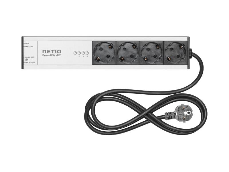 NETIO PowerBOX 4KF LAN controlled power strip 230V Type F Schuko plug type (DE)