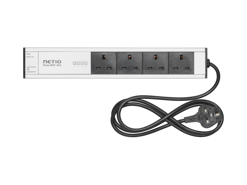NETIO PowerBOX 4KG (UK plugs) remote controlled power strip via Open API and web inteface