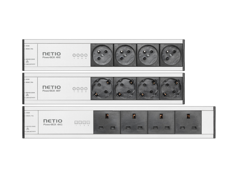 NETIO PowerBOX 4Kx remote controlled power strip via web intefrace or Open API