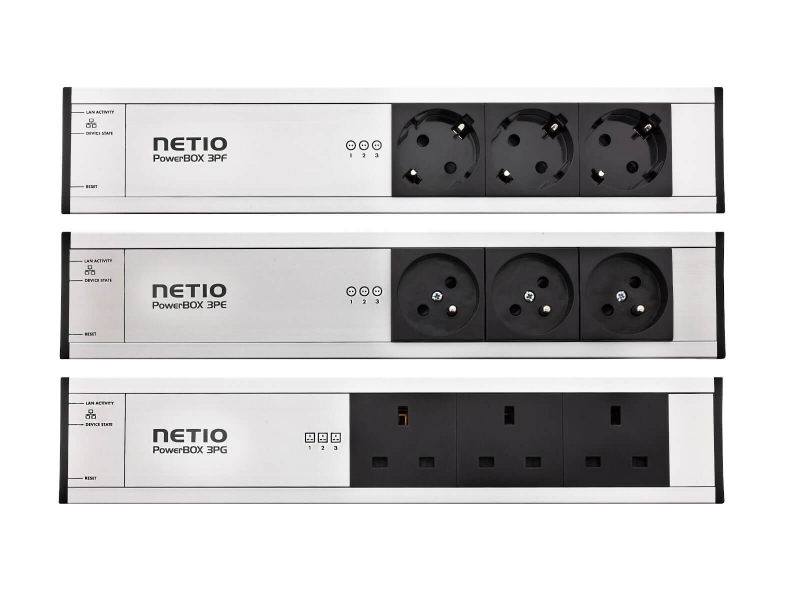 NETIO PowerBOX 3Px remote controlled power strip via web intefrace or Open API
