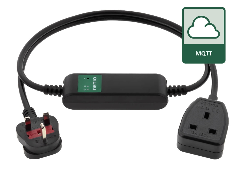 Cloud oriented WiFi power cord with MQTT communication for remote power management