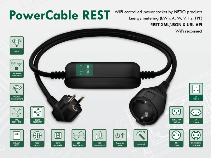 PowerCable REST 101x | NETIO products: Smart power sockets