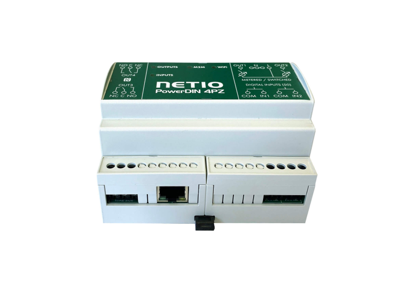 Web controlled (2-channel) and monitored (2-channel) smart energy meter 230V