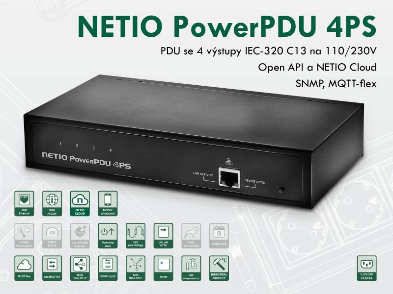 NETIO PowerPDU 4PS vzdalene ovladane PDU 230V 4xIEC-320 C13