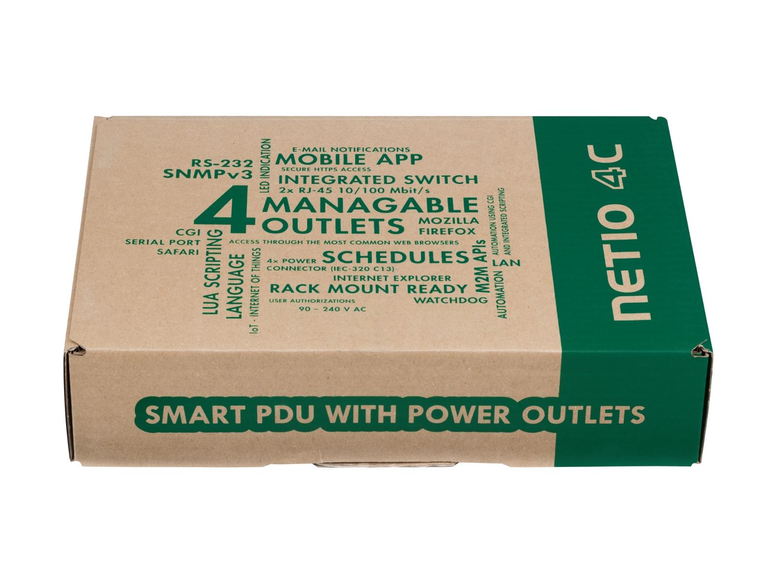 NETIO 4C seriovým portem lze ovládat elektrické výstupy