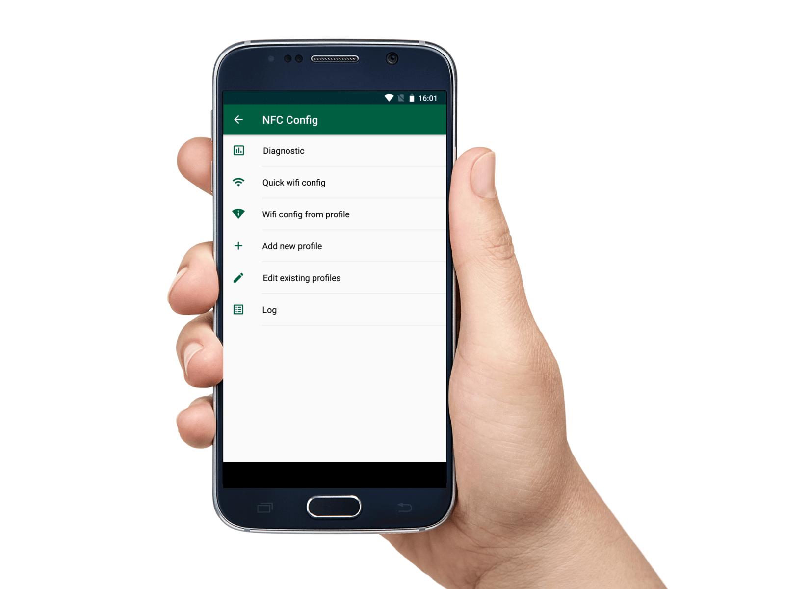 NETIO Mobile2 NFC config menu
