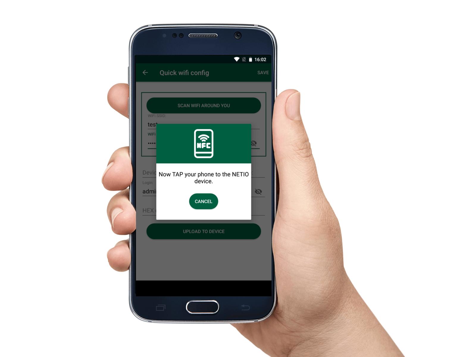 NETIO Mobile2 NFC network preconfiguration