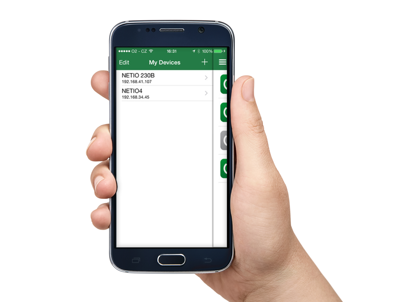 Control multiple power sockets through NETIO mobile application