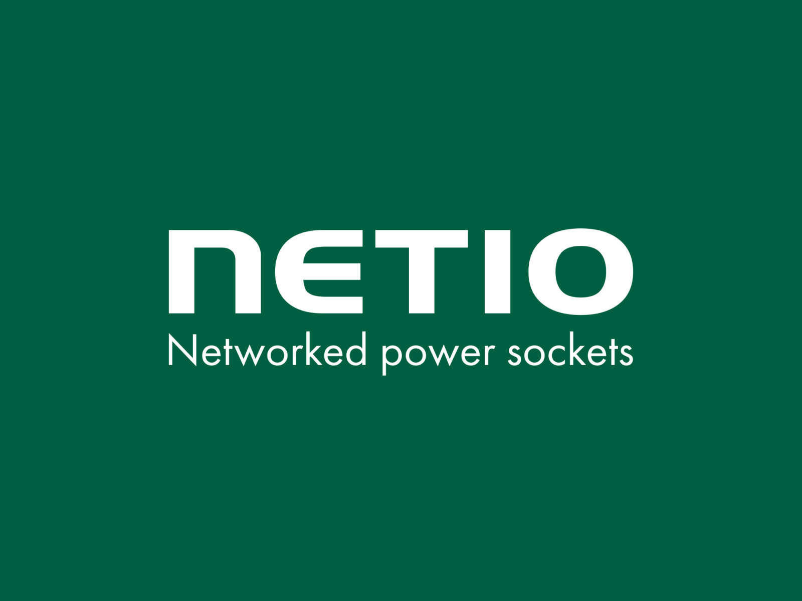 NETIO products company logo with claim Networket power outlets