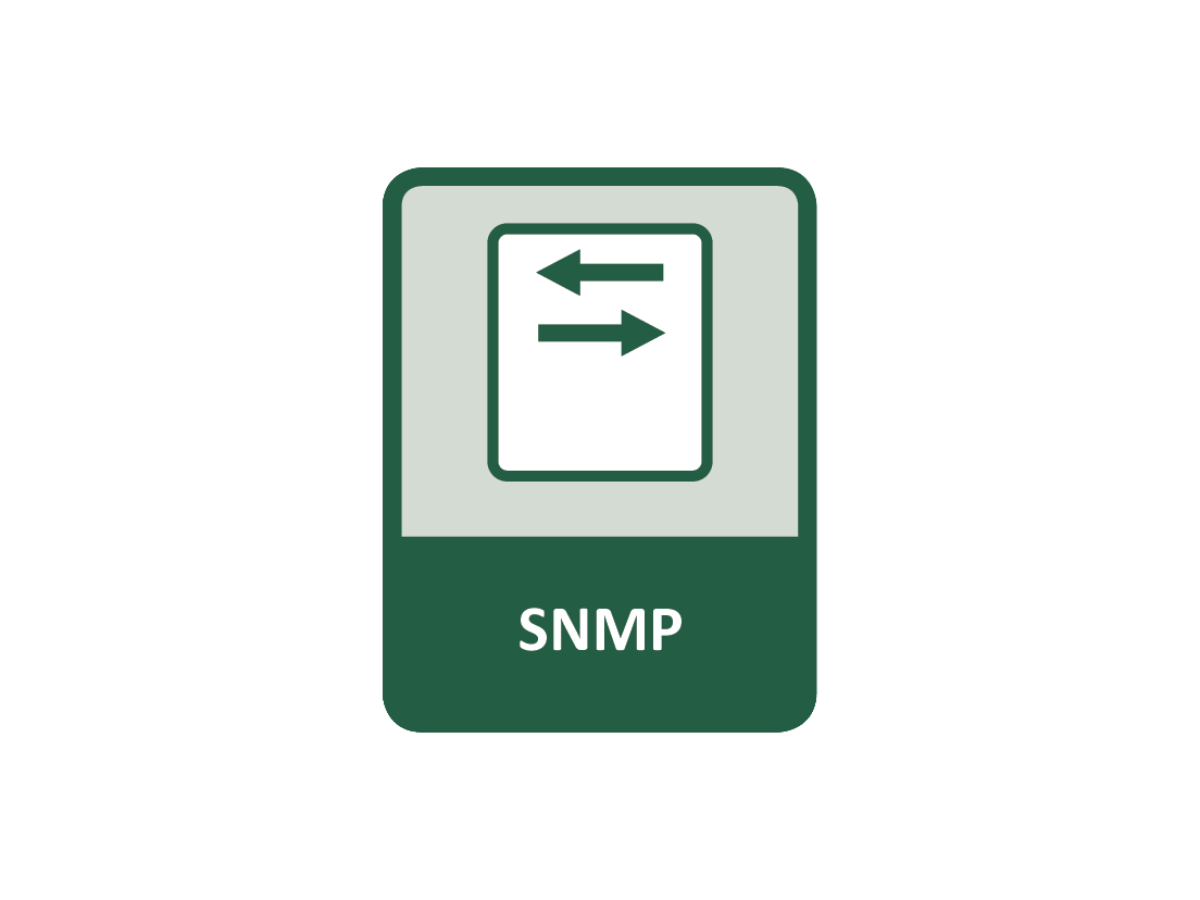 SNMP for use with compatible NMS (Network Management Software)