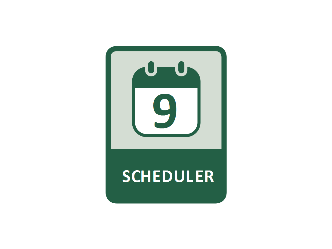 Switching individual electrical sockets on/off according to a time schedule (Scheduler function)