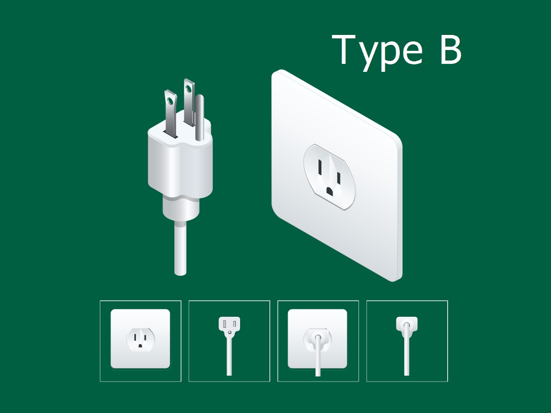 Japan electrical plug type B