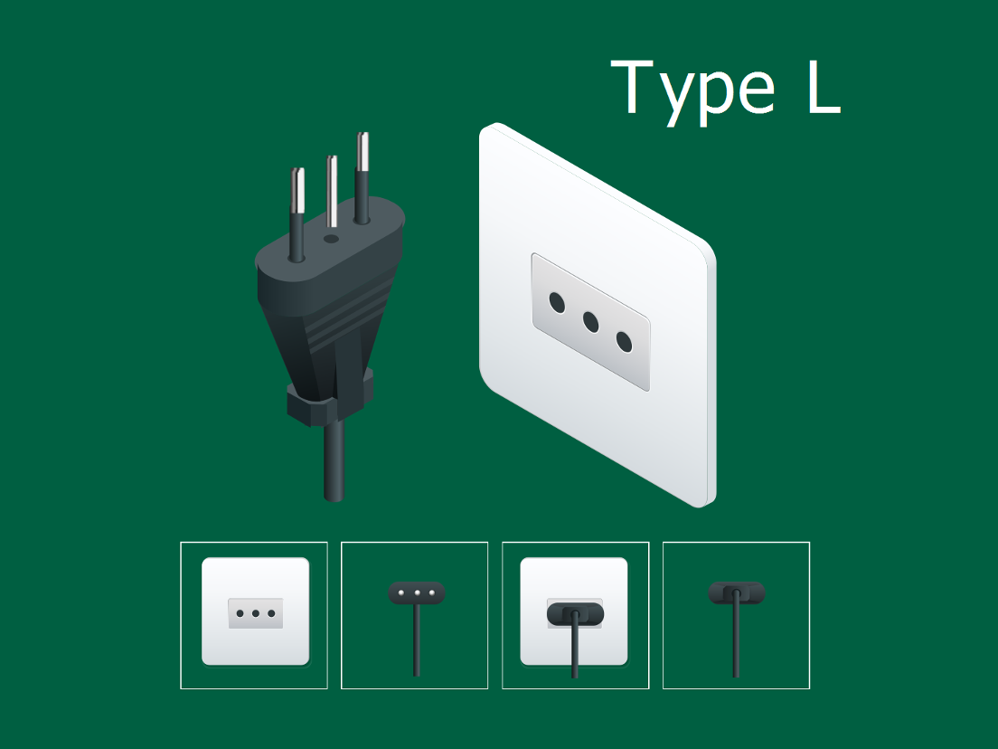 Italian electrical plug type L
