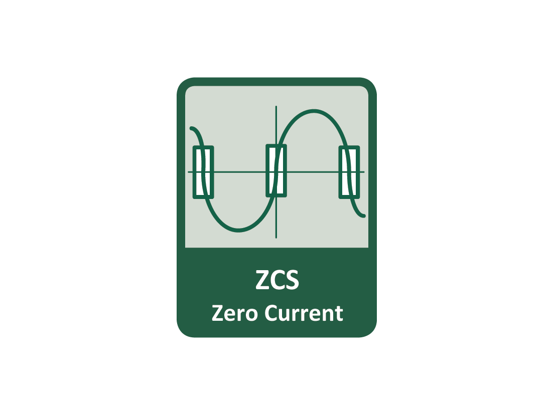 ZCS (Zero Current Switching) function ensures that the relay contact is closed at the moment of zero voltage and opened at the moment when zero current flows through it.
