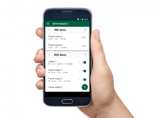 New version of NETIO Mobile2 - Group control & Scheduler