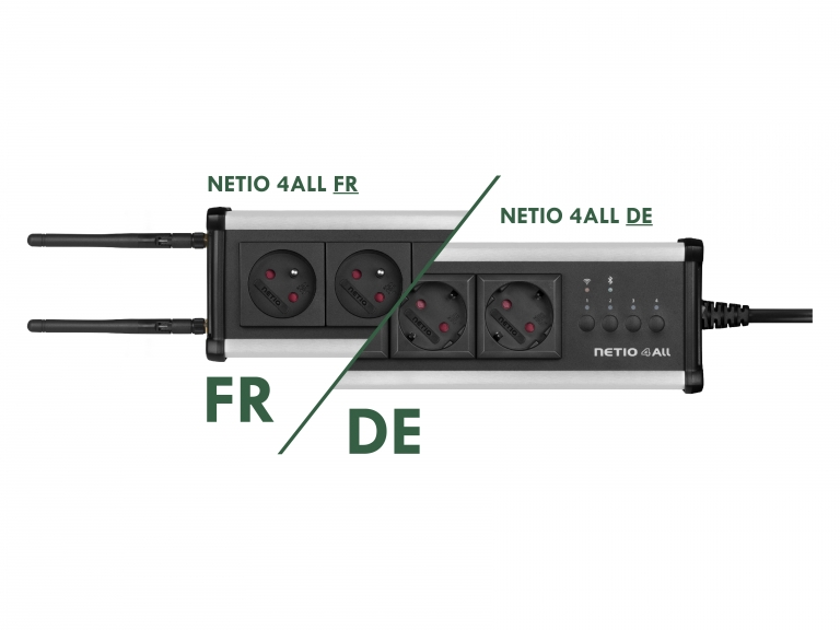 NETIO 4All power variants Schuko DE and French power plug