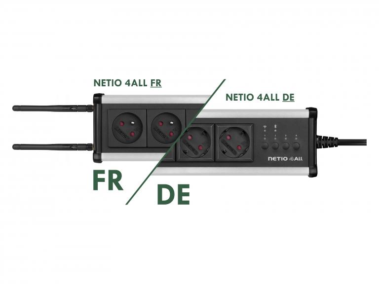 NETIO 4All metered pdu in DE (schuko)  and FR variants