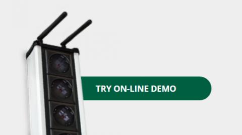 Online demo access on NETIO device web