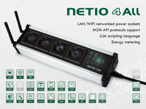 Smart power socket NETIO 4All