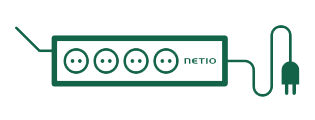 NETIO 4 is smart power strip, each 230V output is controllable individually